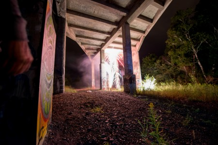 Dances of Resistance Installation under bridge-2